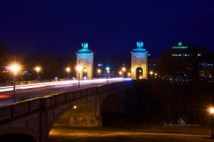 Wilkes-Barre Photography featuring the Market Street Bridge at twilght