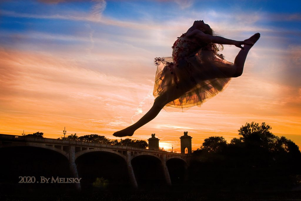 Dancer Leaping Above the Susquehanna River