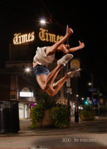 Dancer leaping at scranton times