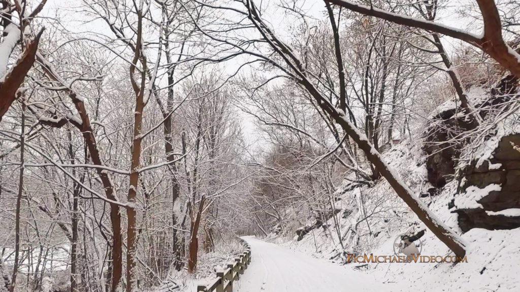 Snowy Path In Pennsylvania